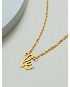 18K Gold Plated Boulevard Small K Initial Pendant Necklace