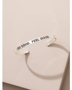 Limited Edition 925 Sterling Silver Plated Do Good. Feel Good. Resolution 2019 Karma Bangle