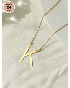Pipa Bella 18k Gold Plated Slanted Initial K Necklace