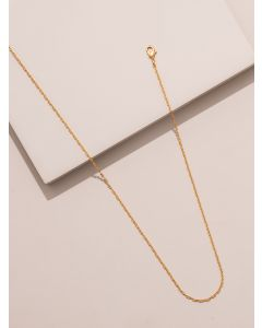18K Gold Plated Double Loop Short Necklace