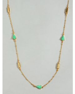 Aster Green Station Necklace