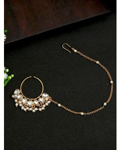 Pipa Bella Gold And Silver Clip-On Nose Pin