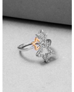 Sterling Silver Cubic Zirconia Constellation Ring