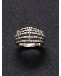Silver Cubic Zirconia Ines Ring